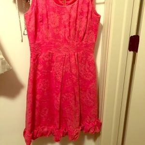 Size 2 coral pink Taylor dress